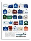 Boeing Jetliners Airline Travel Bag Classic Advert Poster Print New