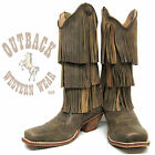 Twisted X Women's Bomber Fringe Steppin' Out Square Toe Boots WSO0017