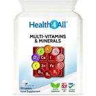Health4All Multi-Vitamins & Minerals One a day Tablets | 100% RDA | Top Quality