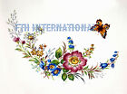 F11 ~ Flower Garland on Ceramic Decals, 4 sizes to choose from, Butterfly Floral image