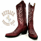 Jama Old West Snip Toe Red Boots LF1574