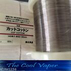 Kanthal Wire 0.20mm, 32 AWG & Muji Organic Cotton/  Vape Coil Wire, RDA, RBA