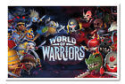 Framed World Of Warriors Large Wall Poster New