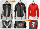 inFAMOUS Second Son Delsin Rowe Cosplay Costume Red,black & white hoodie