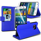 PU Leather Flip Wallet Book Case Cover, LCD Film & Pen For Huawei Ascend G7