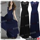 Long Chiffon Wedding Evening Formal Party Gown Prom Ballgown Dresses Size 6-18