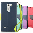 LG G3 Stylus D690 Wallet Case Folio ID Bag Pouch + Screen Protector