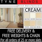 """From 99p Vertical blinds SLATS LOUVRES CREAM 3.5"""" 5"""" plain OR machine washable"""