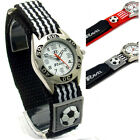 Ravel Boys Girls Watch Kids Football Soccer Design Hook & Loop Band Red or Black