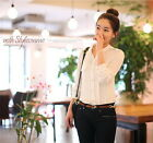 3 Color Women Business Casual Long Sleeve Blouse Summer Top T-Shirt