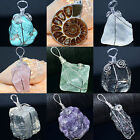 Natural Crystal Gemstones Healing Reiki Chakra Beads Point Pendant Charm Beads