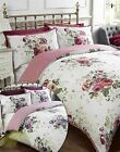 Floral Pink Or Heather Quilt Duvet Cover & Pillowcase Bedding Bed Sets 4 Sizes