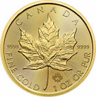 2016 1oz Gold Canadian Maple Leaf BU