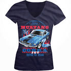 '68 Ford Mustang Cobra Jet -United We 'Stang Classic Girls Junior V-Neck T-Shirt