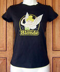 Tinkerbell Disney Natural Blonde Distressed Black T Shirt Top Licensed NWT A
