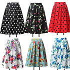 Classy Vintage Sexy Cotton Floral Rockabilly 50's 40's Circle Summer Mini Skirts