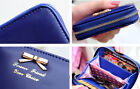 Fashion Bowknot Women Lady Faux Leather Mini Bow Coin Purses Pouch Card Holder