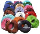 5 Meter Real Leather Rope String Cord Necklace Charms 1.0mm 2.0mm Any Color
