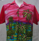 NEW MENS HAWAIIAN SHIRT - BOATS TOWERS (pink)  M,L,XL,XXL for stag, party etc
