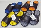 Mens Waterproof Slider Sandals Shower Locker Room Beach Asst Colors