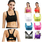 Women High Impact Front Zipped Buckle Back Sports Bra Seamless Vest Shapewear