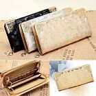 Women Clutch Stone Pattern Long Purse Wallet Zipper Bag Card Holder Wallet New S