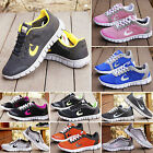 Women's Sports Flat Sneakers Trainers Gym Jogging Breathable Mesh Running Shoes