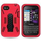 For Blackberry Q5 Various Hybrid Stand Tough Protective Covers Cases