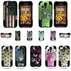For Kyocera Hydro Icon - Shock Proof Dual Layer Kickstand Hybrid Design Case