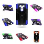 For LG G3 Vigor Case Hard Silicone Dual Layer Heavy Duty Hybrid Kickstand Cover