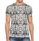 McQ Alexander McQueen Twisted T-Shirt in Bleached Fly Black S Small NWT