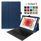 Premium Leather Folio Stand Case Cover for Microsoft Surface 3 10.8-Inch Tablet