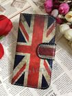 Retro Union Jack UK Flag Flip Pouch Leather Case Cover for NOKIA/Blackberry