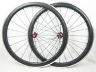 23mm width 50mm clincher 700c full carbon fiber road bicycle wheels alloy brake