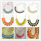 2015 Fashion Womens Lady Charm Collar Choker Chunky Statement Bib Necklace