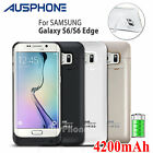 External Backup Battery Power Bank Charger Case For Samsung Galaxy S6 / S6 Edge