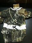 NWT Baby Girls Camo & Lace Diaper Shirt Sz 18-24 Month NICE BABY SHOWER GIFT