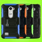 Holster Cover Rugged Hard Soft Tough Hybrid Case For LG Leon Tribute 2 Risio