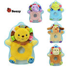 cute animal lion elephant frog round catch shaking rattle soft baby toy gift 1pc