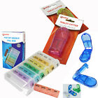 7 DAY POP UP PILL BOX MEDICINE TABLET CUTTER SPLITTER STORAGE COMPARTMENT HOLDER