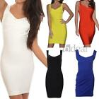 Women Ladies Mini Dress Sleeveless Bandage Bodycon Cocktail Party Sexy XS S M L