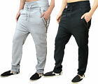 Mens Designer AD Fleece Drop Crotch Slim Joggers Bottoms Pants Trouser Harem Jog