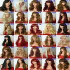 Wig Long Curly Straight Wavy Synthetic Wig Women Fashion natural  party wig