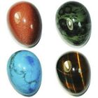 Wholesale Lot Mix Natural Gemstone Sphere Crystal EGG 34X44MM