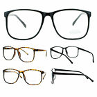 SA106 Nerdy Thin Plastic Horn Rim Classic Simple Minimal Clear Lens Eye Glasses