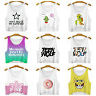 Women Casual Tank Tops Vest Blouse Tight Crop Cotton Print New Breathable Hot