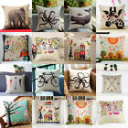 Vintage Animal Cotton Linen Cushion Cover Throw Sofa Car Pillow Case Home Decor