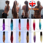 11 Styles Clip In Ponytail Pony Tail Hair Extension Claw On Ombre Straight Hair