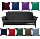 Внешний вид - Black Full Size Futon Cover+Choose Favorite Color Of Pillows Cover! Free S/H