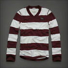Abercrombie Fitch Men Sentinel Range Stripe Polo Rugby Long Sleeve Shirt M L $63